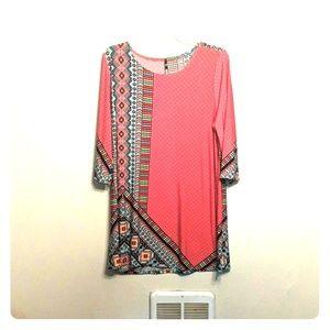 Pink print shirt
